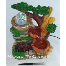 Фонтан Мельница у дерева,высота 25см