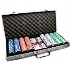Набор для покера на 400 фишек с номиналом в кейсе