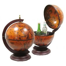 Глобус бар настольный диаметр сферы 33см
