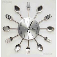 "Часы "" КУХНЯ""  из металла,диаметр 30см"