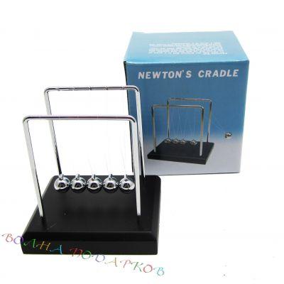 Купить Маятник Ньютона настольный 9 см на (деревянной подставке) в Москве