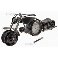 Большая модель  спортивного Мотоцикла с часами,60см