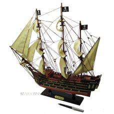 Модель пиратского парусника Черная жемчужина,45см
