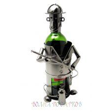 Подставка под бутылку Пожарный с бранспойтом