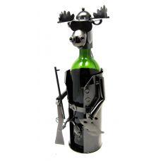 Лось Охотник металлическая подставка под бутылку.