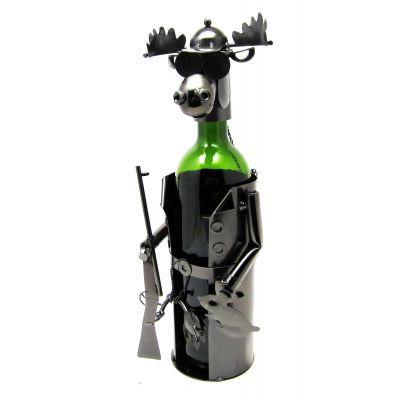 Купить Лось Охотник металлическая подставка под бутылку. в Москве