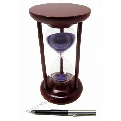Купить Часы песочные 15 минут, фиолетовый песок в Москве