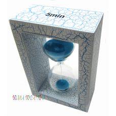 Оригинальные песочные часы  5 минут синий песок