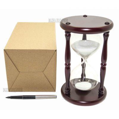 Купить Часы песочные на 20 минут белый песок,высота 19см в Москве