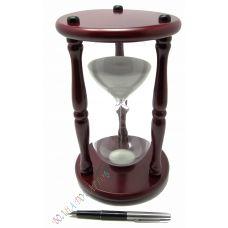 Часы песочные 30 минут белый песок,высота 25см.