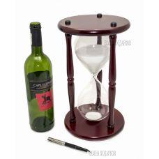 Часы песочные Гигант на 90 МИНУТ белый песок,высота 30см.