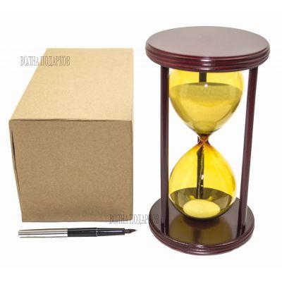 Купить Часы песочные Цветные 30 минут белый песок,высота 22см в Москве