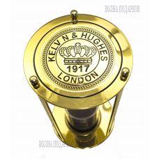 Песочные часы «Лондон» на 15мин , золото.Высота 16см