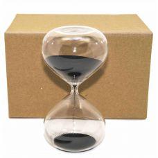Песочные часы на 60 минут, черный песок