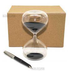 Песочные часы на 10 минут, черный песок