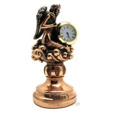 "Статуэтка-знак зодиака ""Дева"" с часами,19см"