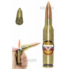 Зажигалка Патрон с символикой МЧС
