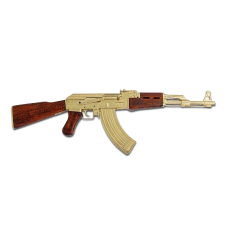 Сувенирный Автомат Калашникова золотой наградной АК-47