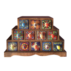 Миникомод - пирамида, 12 ящиков