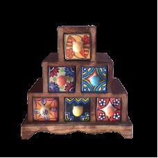 Миникомод - пирамида, 6 ящиков
