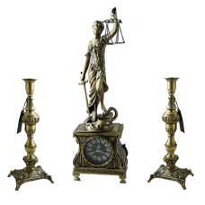 Каминные часы с канделябрами  Фемида
