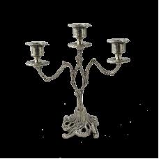 Канделябр на 3 свечи из бронзы Асти с покрытием  серебро