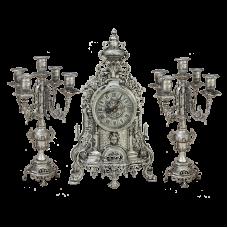 Часы антикварные каминные с канделябрами Париж