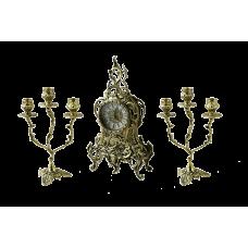 Каминные часы с канделябрами  Боско
