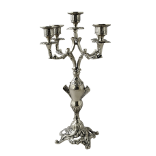 Канделябр Колуна 5-ти рожковый бронзовые с покрытием  серебро