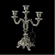 Канделябр Дон Луиш 3-х рожковый бронзовый с покрытием  серебро