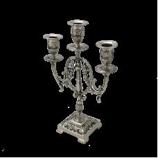 Канделябр Лира 3-х рожковый бронзовый с покрытием  серебро