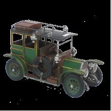 Модель ретро-автомобиля зеленый с черным верхом