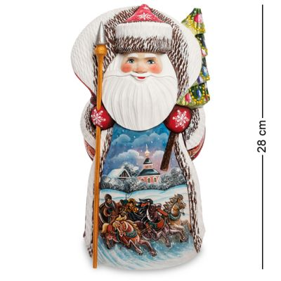 Купить РД-79 Фигурка Дед Мороз (Резной) 28см в Москве
