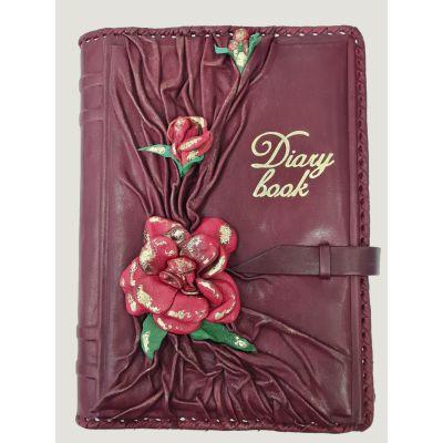 Купить Ежедневник А5 | Цветущий сад | Бордовый в Москве
