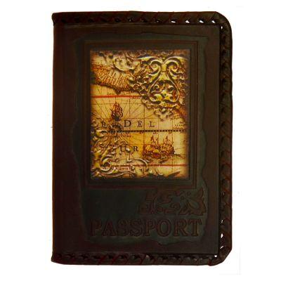 Купить Обложка на паспорт   Карта   Коричневый в Москве