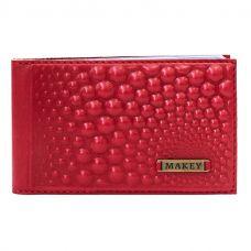 Визитница карманная «Bubbles». Цвет красный