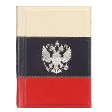 Ежедневник А5 «Триколор» с посеребренным орлом