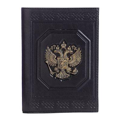 Купить Обложка для документов «Государь» с латунным орлом в Москве