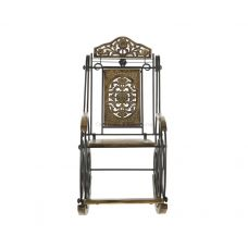 Кресло-качалка дачное (дер+сталь) № Мб373