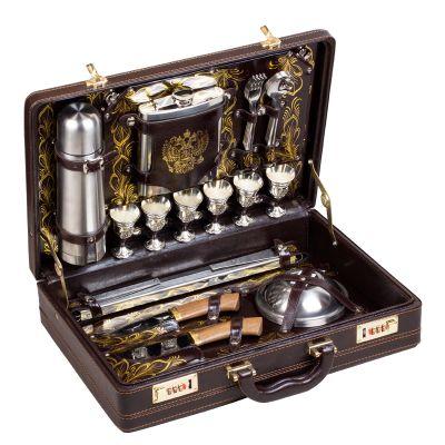Купить  Набор подарочный «Престиж» (6персон сзолотистой росписью) в Москве