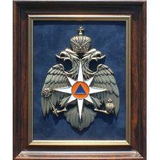 панно с символикой МЧС 23х19см