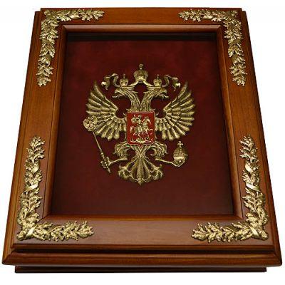 Купить Деревянная ключница с гербом России настенная в Москве