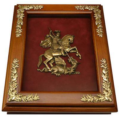 Купить Деревянная ключница с гербом Москвы настенная в Москве
