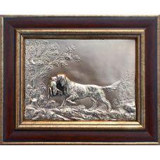 Картина Собака с добычей 26х21см