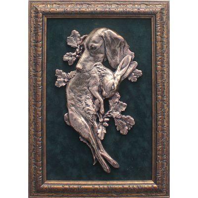 Купить Картина охотничья Собака с зайцем в Москве