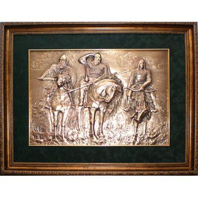 Купить Картина Три богатыря 52х39см в Москве