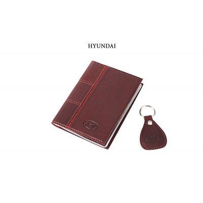 Купить Обложка для водительского удостоверения с брелком «HYUNDAI» 065-07-47М в Москве