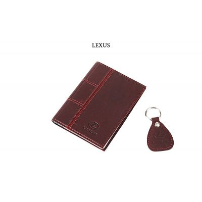 Купить Обложка для водительского удостоверения с брелком «LEXUS» 065-07-68М в Москве