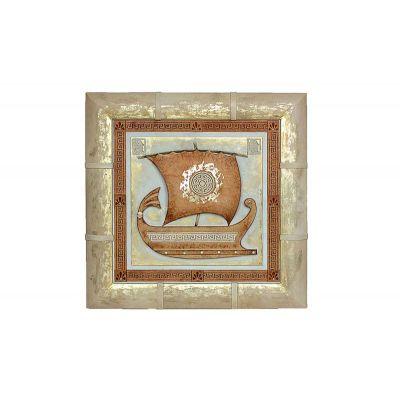 Купить Панно «Серебряная ладья» 055-07-28М в Москве
