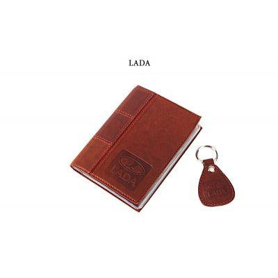 Купить Обложка для водительского удостоверения с брелком «LADA» 065-07-61М в Москве